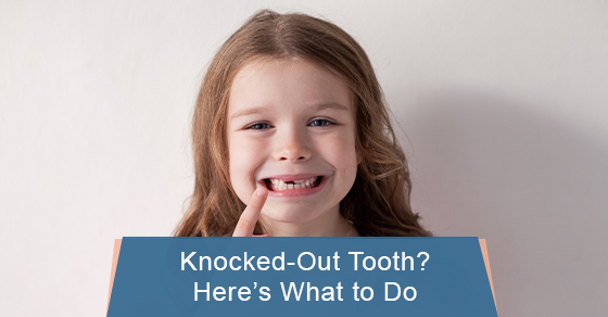 Here's what to do with a knocked out tooth